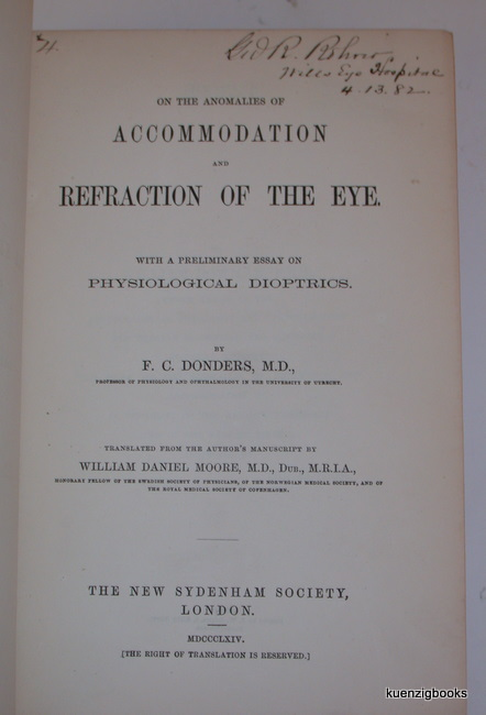 on the ano es of accommodation and refraction of the eye  on the ano es of accommodation and refraction of the eye a preliminary essay on