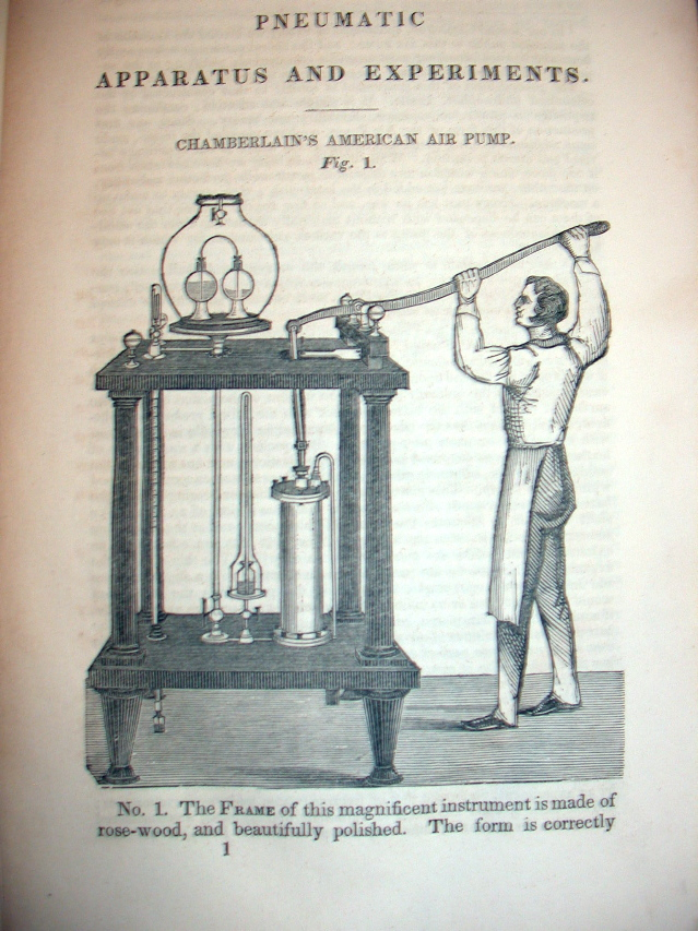 A Catalogue of Pneumatic Instruments Manufactured and Sold By N. B. & D. Chamberlain ; with Experiments Illustrated By Numerous Engravings and Notes WITH Hydrostatic and Hydraulic Apparatus WITH A Price Catalogue of Pneumatic Apparatus, Manufactured and Sold by N. B. & D. Chamberlain, Nos. 2 & 9 School Street. N. B. Chamberlain, D.
