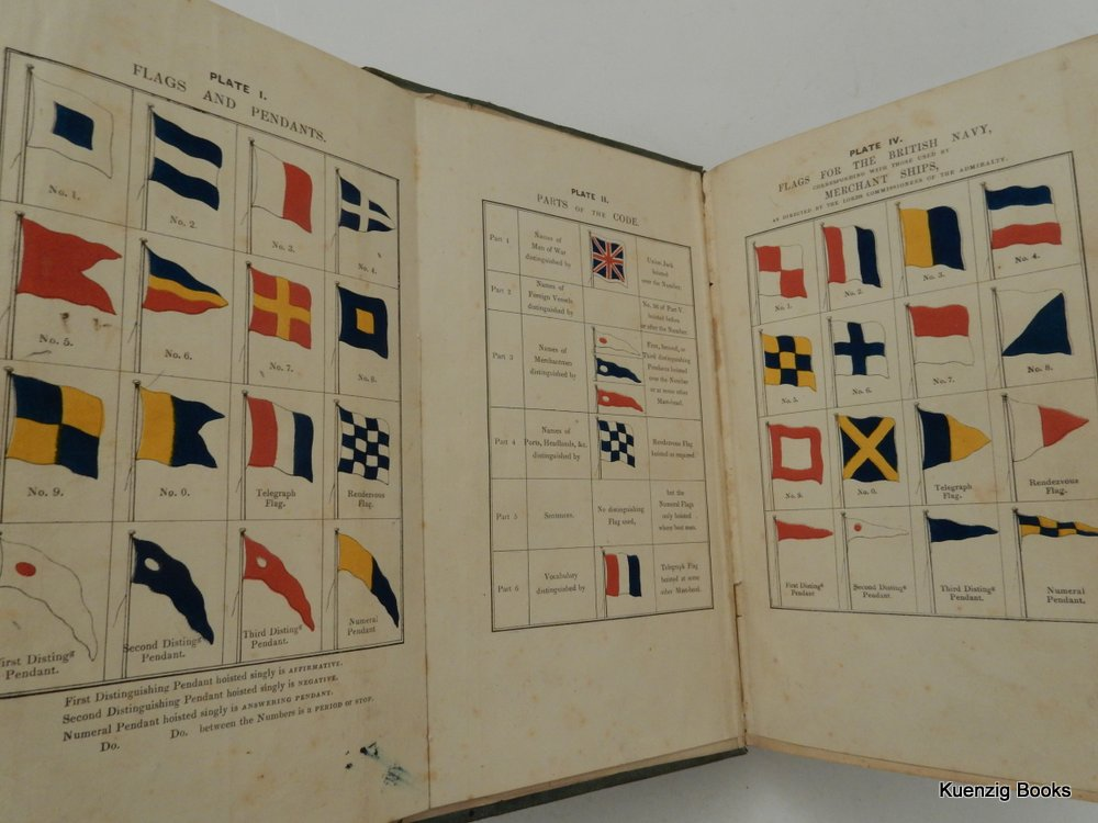 The Universal Code of Signals for The Mercantile Marine of All Nations, by the Late Captain Marryat, R. N. with a Selection of Sentences Adapted for Convoys, and Systems of Geometrical, Night & Fog Signals. G. B. Richardson, Marryat.