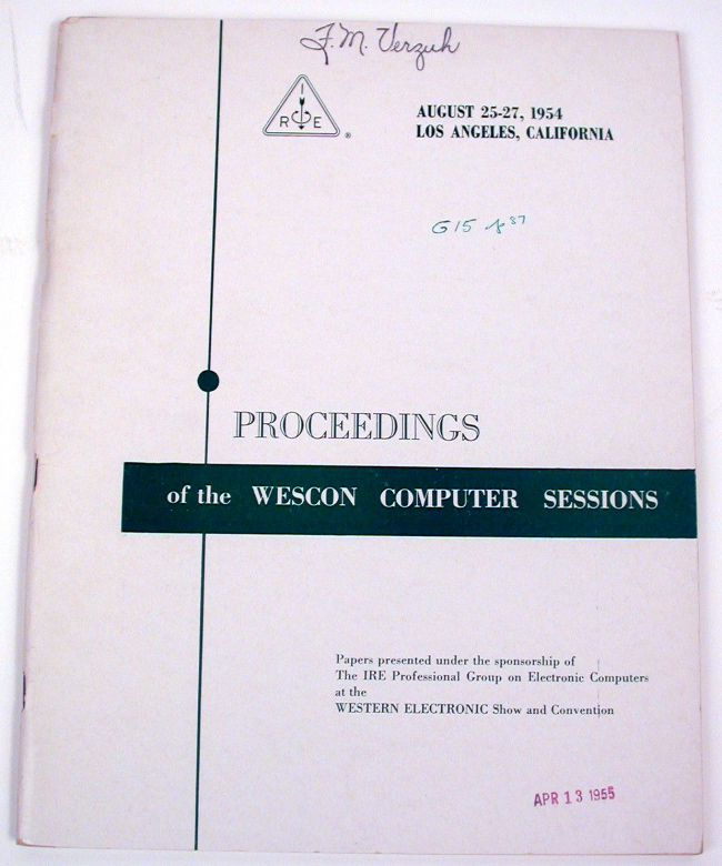 Computer-Programmed Preventive Maintenance for Internal Memory Sections of the Era 1103 Computer System IN Proceedings of the WESCON COMPUTER SESSIONS, August 25-27, 1954, Los Angeles, California. The Institute of Radio Engineers, Seymour R. Cray.