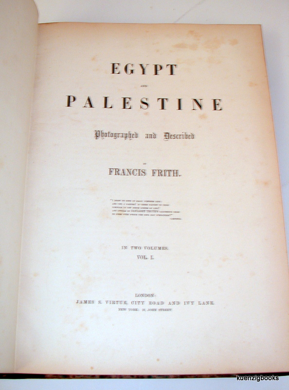 Egypt and Palestine Photographed and Described   Francis