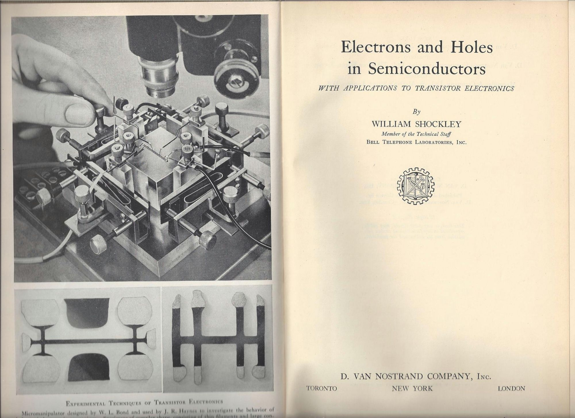 Electrons and Holes in Semiconductors with Applications to