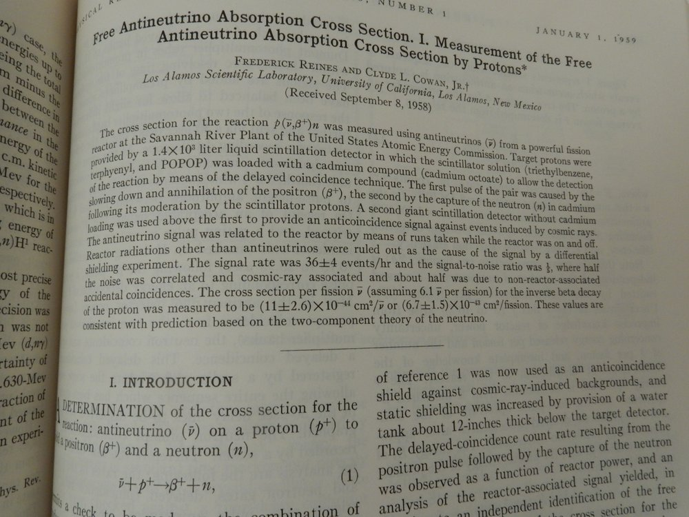 Free Antineutrino Absorption Cross Section. I. Measurement of the Free Antineutrino Absorption Cross Section By Protons WITH Free Antineutrino Absorption Cross Section. II. Expected Cross Sections from Measurements of Fission Fragment Electron Spectrum. Frederick Reines, Clyde L. Jr Cowan.