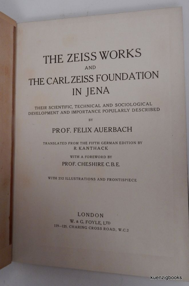 The Zeiss Works and the Carl Zeiss Foundation in Jena