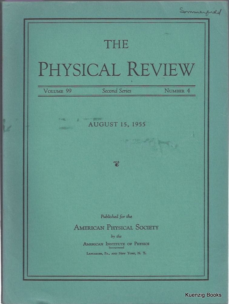 The Maser - New Type of Microwave Amplifier, Freguency Standard, and Spectrometer. Charles Townes, J. P. Gordon, H. J. Zeiger.