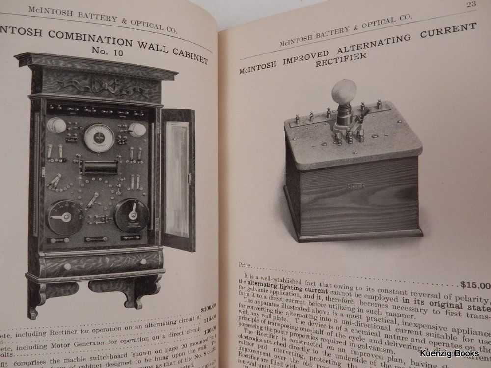 Illustrated Catalog of Electro-therapeutical Apparatus ... Thirtieth Edition. McIntosh Battery, Optical Co.
