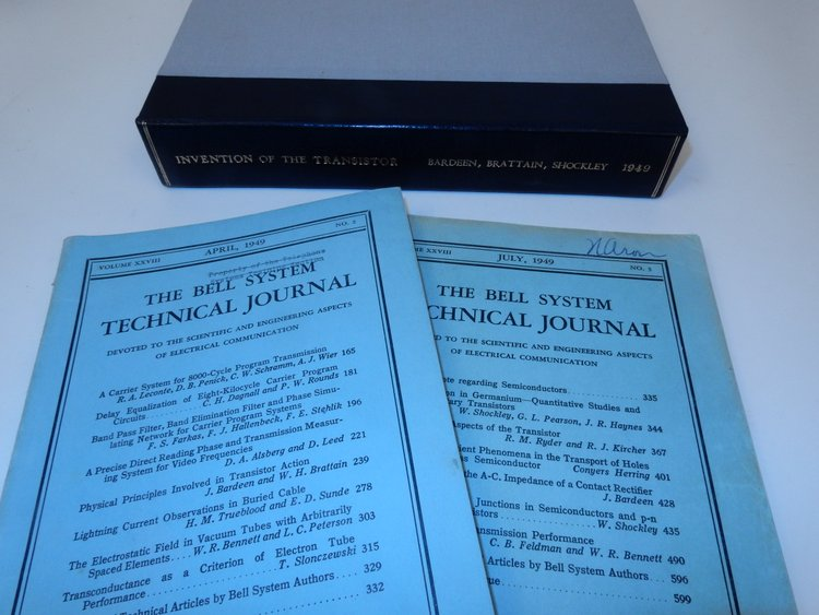 Physical Principles Involved in Transistor Action WITH Hole Injection in Germanium - Quantitative Studies and Filamentary Transistors WITH The Theory of P-n Junctions in Semiconductors and P-n Junction Transistors. J. Bardeen, W. Shockley, G. L. Pearson, J. R. Haynes.