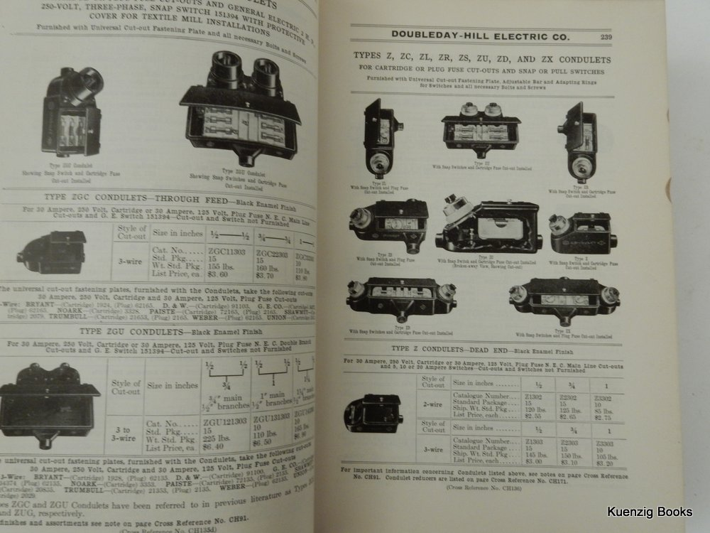 General Catalogue No  7 Doubleday-Hill Electric Co  Distributors and  Manufacturers Electrical Supplies by Doubleday-Hill Electric Co on Kuenzig  Books