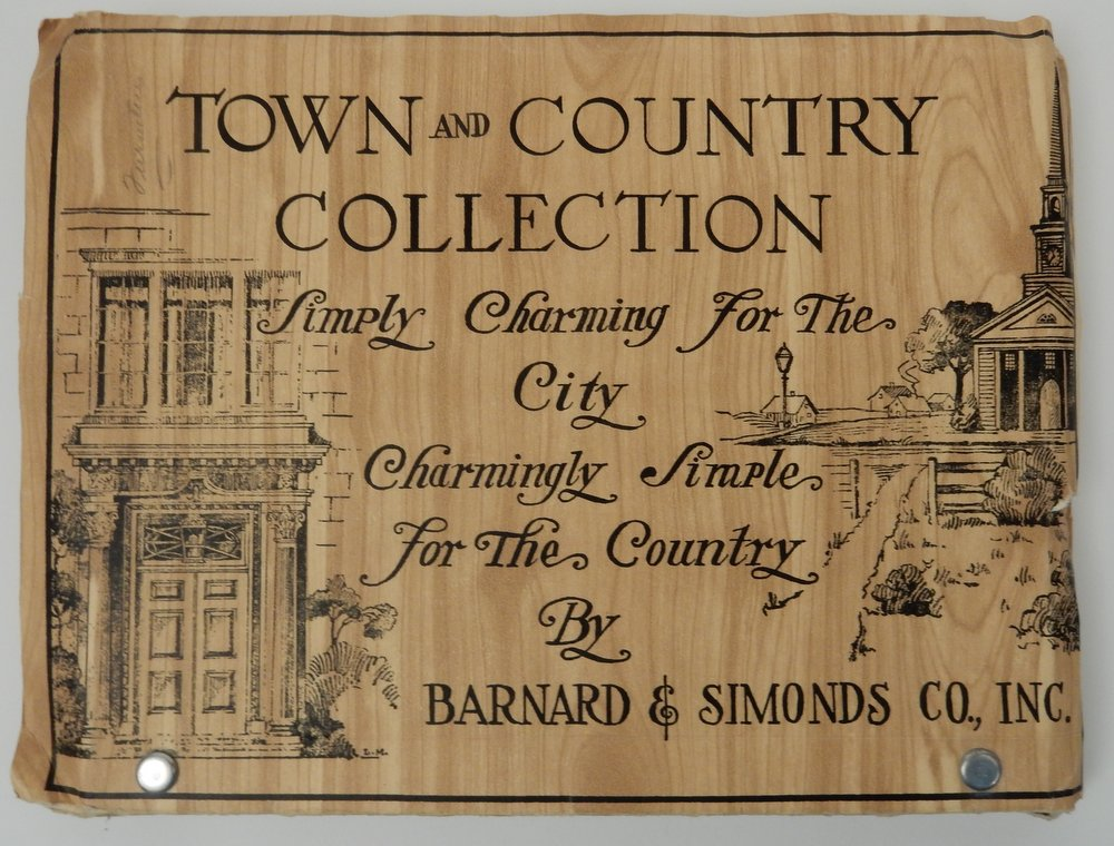 Town and Country Collection Simply Charming for the City Charmingly Simple for the Country by Barnard & Simonds Co., Inc. [ cover title ]. Barnard, Inc Simonds Co.
