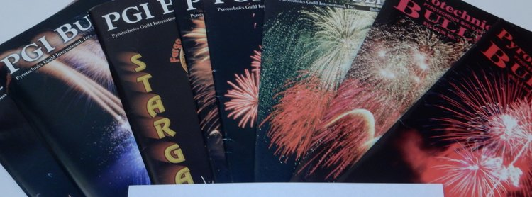 Pyrotechnics Guild Bulletin Issues 110-116, 117, 119 [ PGI ]. Mark Wray, publications VP.