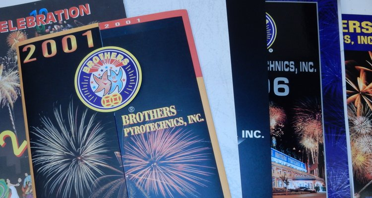 Brothers Pyrotechnics, Inc. Catalogs for 2000, 2001, 2002, 2003 (regular and value), 2004, 2006, and 2007. Inc Brothers Pyrotechnics.