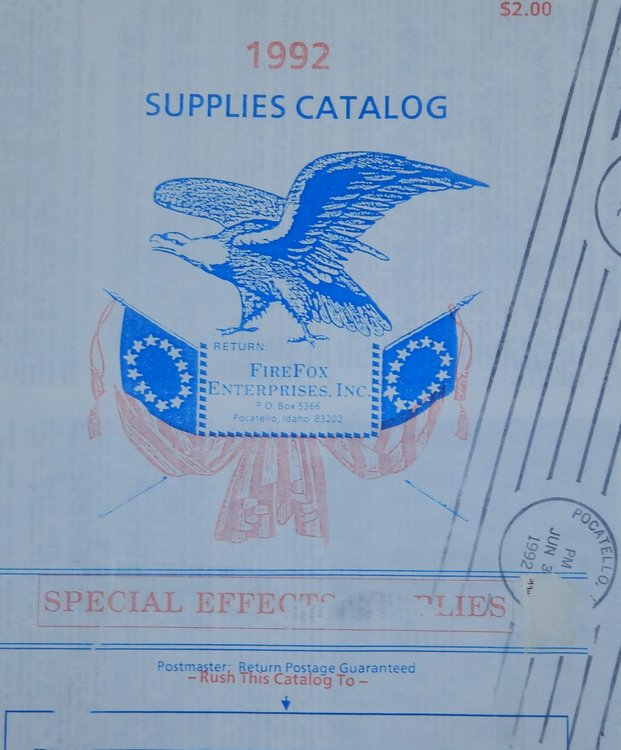 1992 Supplies Catalog [ Firefix Enterprises, Inc. Inc Firefox Enterprises.