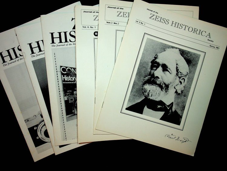 Journal of the Zeiss Historica Society, complete run from Volume 3, No 1 Spring 1981 through Volume 28, No 1, Spring 2006, a total of 51 issues.
