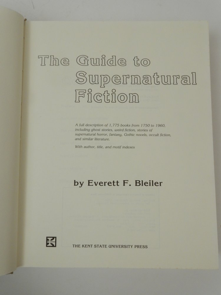 Title: The Guide to Supernatural Fiction