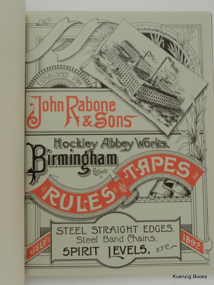 Catalogue of Measuring Rules, Tapes, Straight Edges, and Steel Band Chains ; Spirit Levels, &c. Manufactured by John Rabone & Sons. John Rabone & Sons.