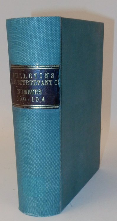 Substantial Collection of B. F. Sturtevant Co. Catalogues, Bulletins, and Application Notes. B. F. Sturtevant Co.