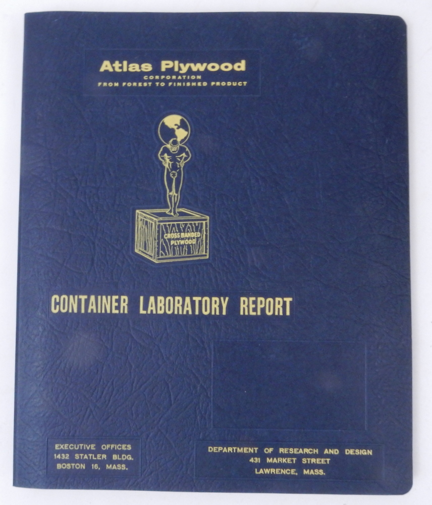 Atlas Plywood Corporation CONTAINER LABORATORY REPORT. Atlas Plywood Corporation.