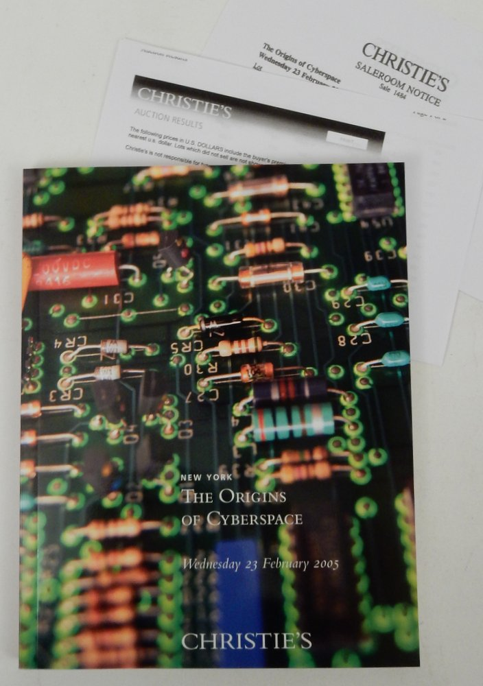 The Origins of Cyberspace Wednesday 23 February 2005 Christie's Auction Catalog. Christie's New York.