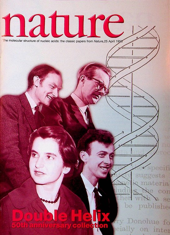 In Pursuit of Structure : Double Helix 50th anniversary collection : The molecular structure of nucleic acids : the classic papers from Nature, 25, April 1953. Philip Campbell, J. D. Watson, F. H. C. Crick, M. H. F. Wilkins, A. R. Stokes, H. R. Wilson, Rosalind E. Franklin, R. G. Gosling, Prof. Sir George Radda, authors, afterward.