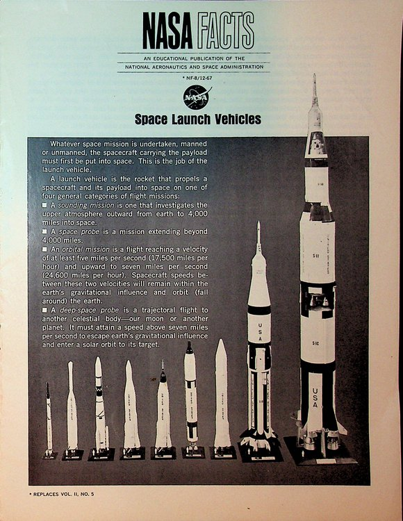 Space Launch Vehicles NF-8 / 12-67. National Aeronautics, Space Administration, NASA.