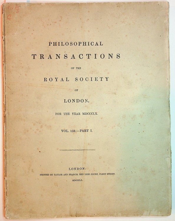 """On the theory of compound colours, and the relations of the colours of the spectrum."""" In: Philosophical Transactions, 150, Part I, pp. 57-84. James Clerk Maxwell."""
