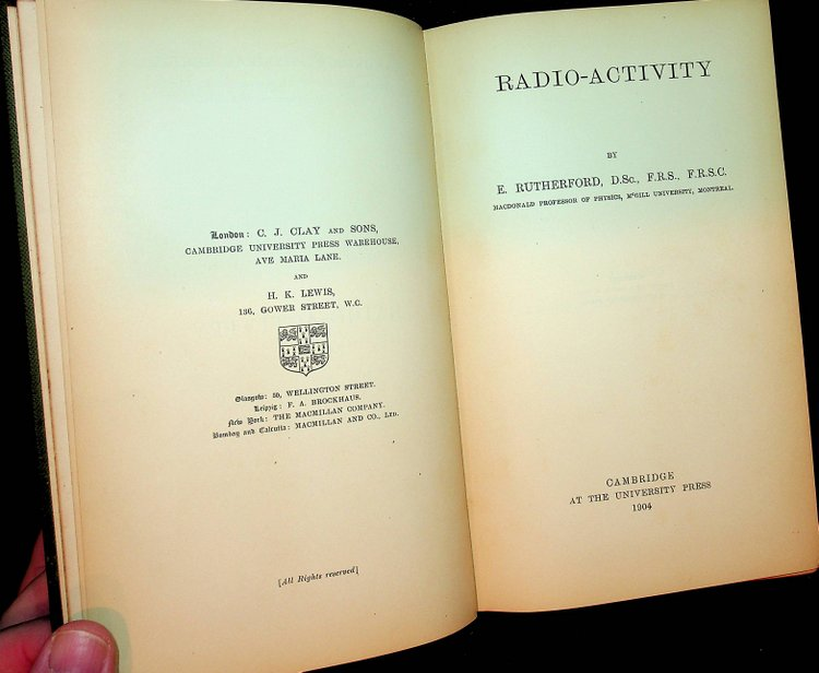 Radio-activity. E. Rutherford, Ernest.