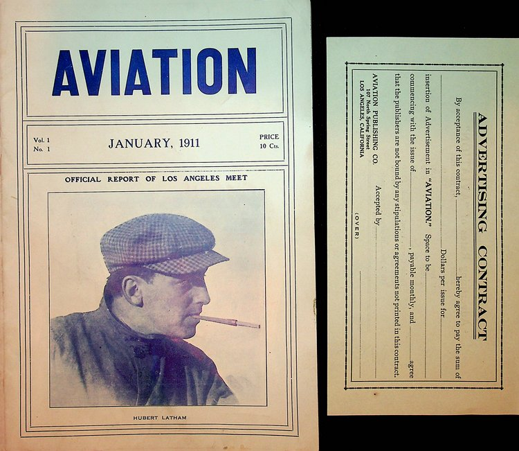 Aviation Vol 1 No 1 January 1911 [ includes Official Report of Los Angeles Meet ]. Van M. Griffith.