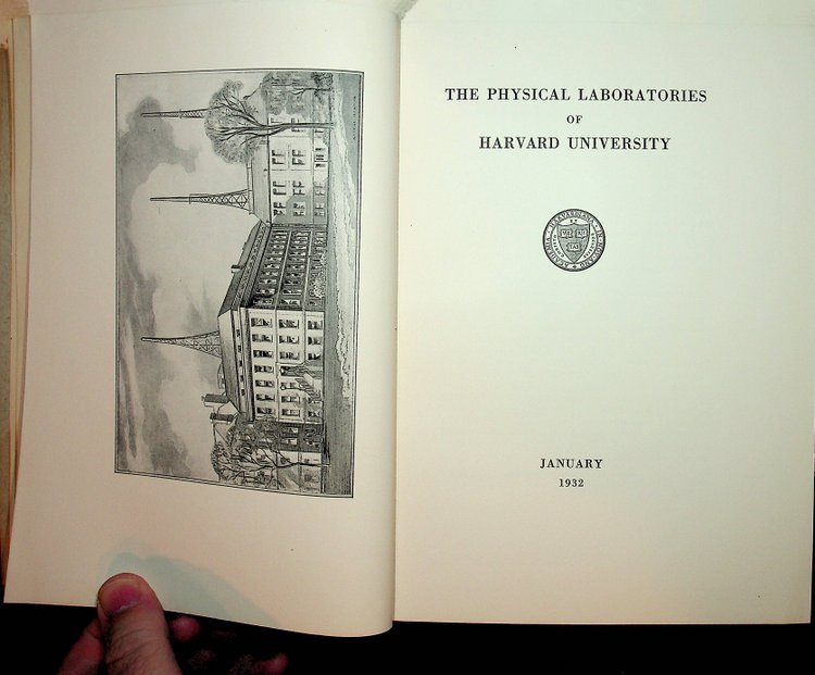 Contributions from the Physical Laboratories of Harvard University from the years 1930 and 1931 Vol. XXI. Percy W. Bridgman.