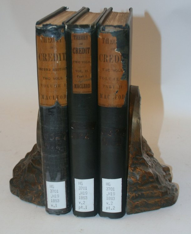 The Theory of Credit ... (2 volumes in three, a mixed set). Henry Dunning Macleod.