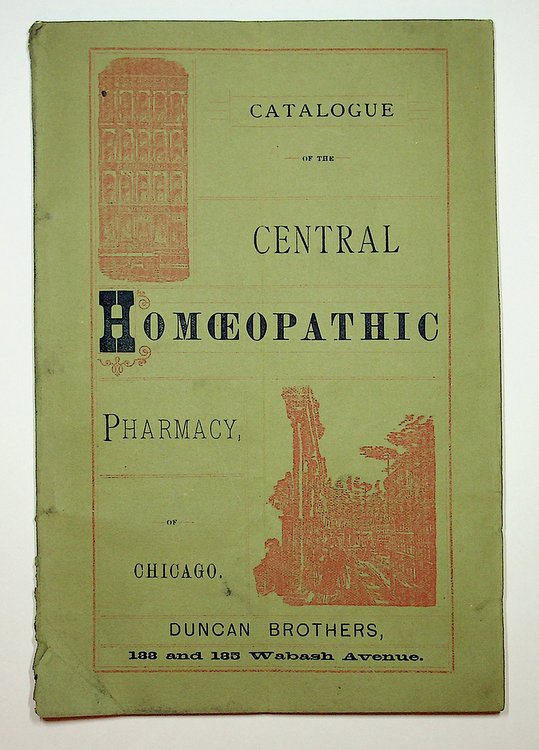 [ Homoeopathy ] Catalogue and Descriptive Price Current of Books, Medicines, and Physicians' Supplies of Every Description. Duncan Brothers.