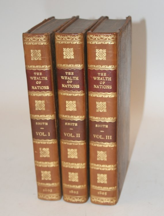 An Inquiry into the Nature and causes of the Wealth of Nations ... the Eleventh edition; with notes, supplementary chapters, and a life of Dr. Smith, by William Playfair. In three volumes. Adam Smith.