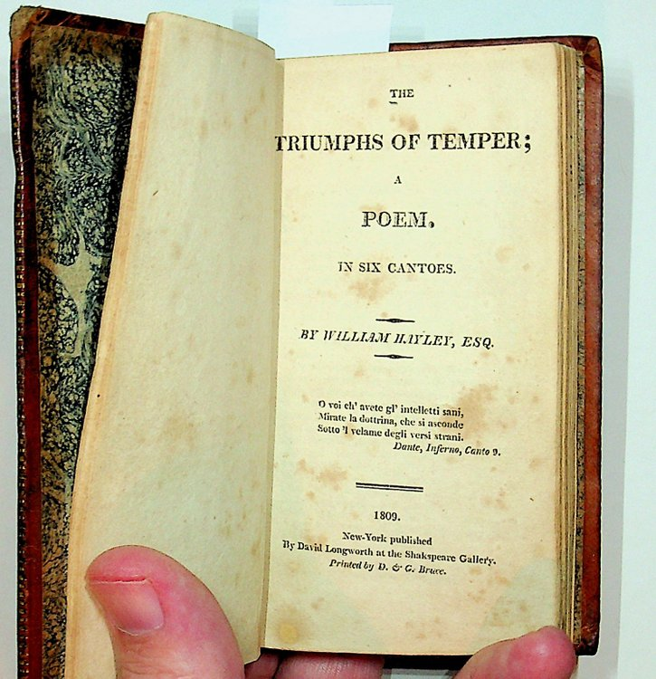 The Triumphs of Temper; A Poem. In Six Cantoes [sic]. William Hayley.