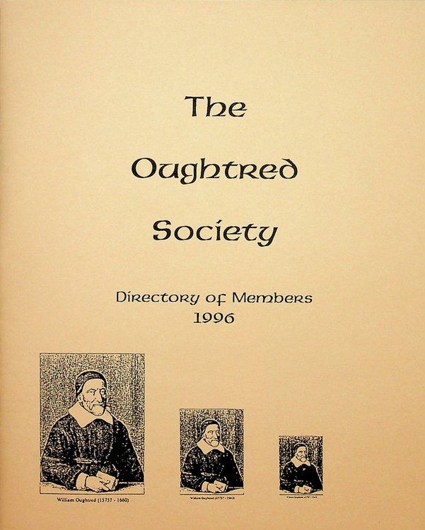 The Oughtred Society Directory of Members 1996. The Oughtred Society.