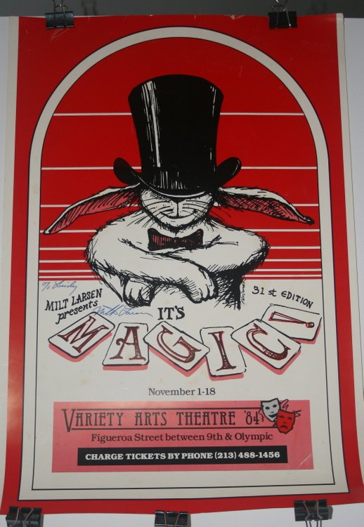 [ Advertising Poster, Magic ] Milt Larsen Presents MAGIC! 31st edition November 1-18 Variety Arts Theatre '84. Milt Larsen.