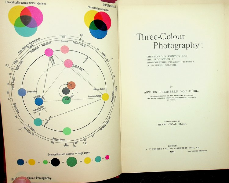 Three-Colour Photography : Three-Colour Printing and the Production of Photographic Pigment Pictures in Natural Colours. Arthur Freiherrn von Hubl, Henry Oscar Klein, author.