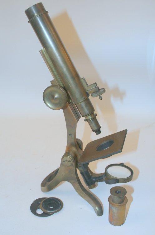 [ artifact, microscope ] Henry Crouch S/N 4445. Henry Crouch.