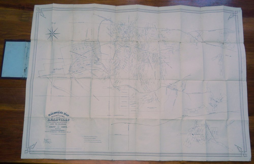 Baldwin's map of mining claims near Leadville, California Mining District, Lake Co. Colorado. F L. Sizer, Balwin and Company, Balwin, Company, Draughtsman, publisher.