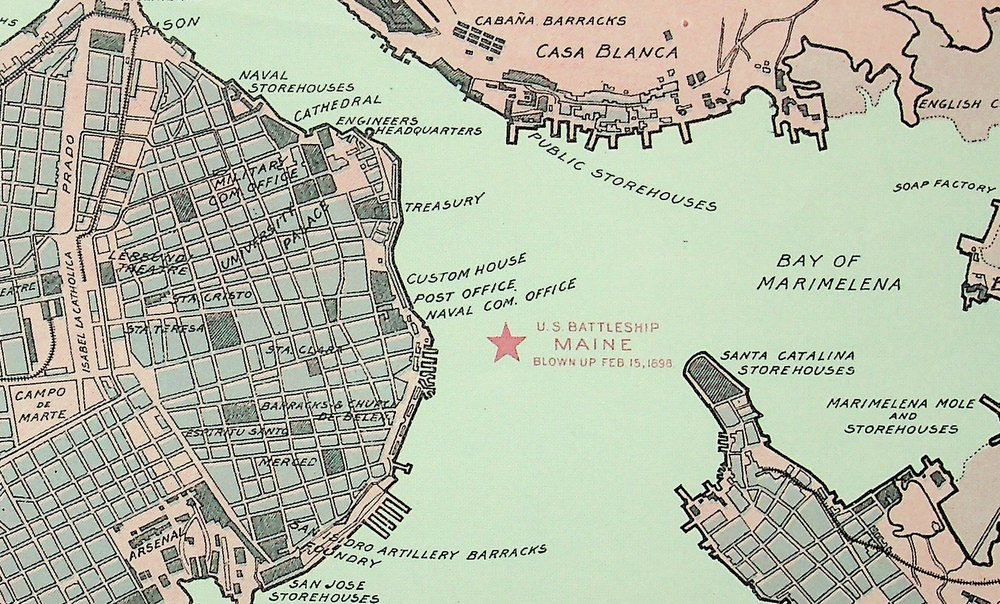 Map of Havana and Havana Harbor Showing the FORTIFICATIONS and PUBLIC BUILDINGS Corrected to May 3, 1898. G. H. Beuk.