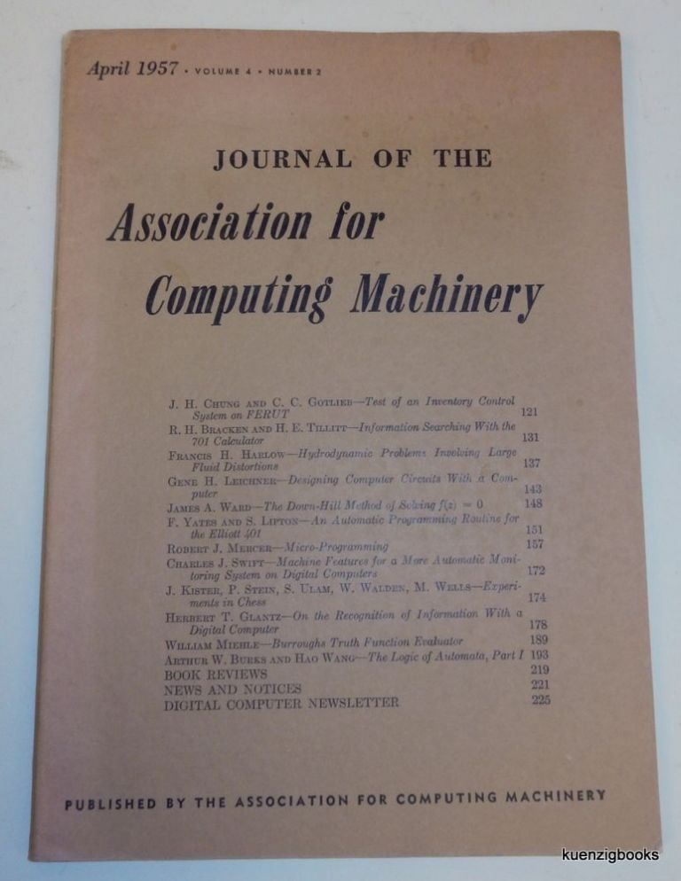 [ Computer Chess ] Experiments in Chess IN Journal of the Association for Computing Machinery April 1957 Volume 4 Number 2