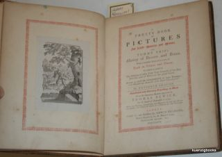 A Pretty Book of Pictures for Little Masters and Misses or Tommy Trip's History of beasts and birds with a Familiar Description of Each in verse and Prose. Thomas Bewick, Goldsmith, Oliver for John Newbery.