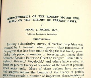 Characteristics of the Rocket Motor Unit Based on the Theory of Perfect Gases