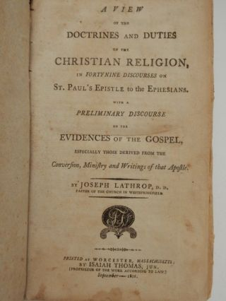A View of the Doctrines and Duties of the Christian Religion in Forty Nine Discourses on St....