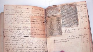 Manuscript Notebook of John and James Thomson