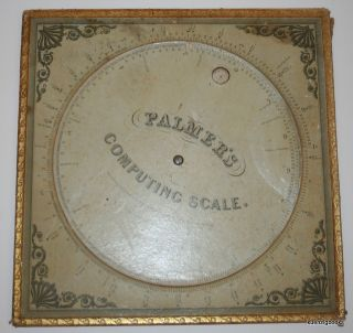 Palmer's Computing Scale [ Full Size ]. Aaron Palmer
