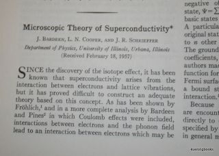 Microscopic Theory of Superconductivity. J. Bardeen, L. N. Cooper, J. R. Schrieffer