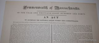 Commonwealth of Massachusetts. In the year one thousand eight hundred and forty. An Act to...