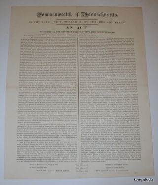 Commonwealth of Massachusetts. In the year one thousand eight hundred and forty. An Act to ascertain the rateable estate within this Commonwealth