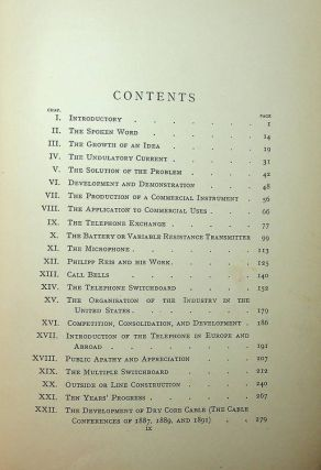 The Telephone and Telephone Exchanges Their Invention and Development