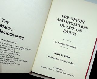 The Origin and Evolution of Life on Earth: An Annotated Bibliography