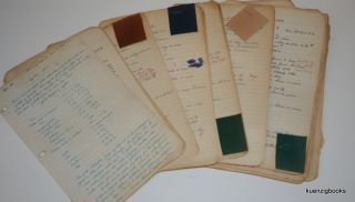 Manuscript Archive with formulae/processes for Leather Dressing, Dyeing, Tanning from the 1940s...